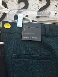 Green wool dress pants