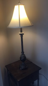 """2 lamps purchased from Bombay. 30"""" Tall. Excellent condition. Neutral colours. Price is for both together. Brampton, L6P 2R1"""