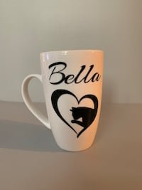 Customized Cat lover cup with name  Barrie, L4M 2M4