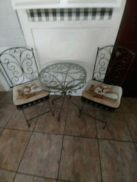two white and black metal chairs Gloversville, 12078