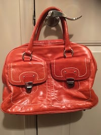 Danier Orange Leather Handbag  Mississauga, L4Z 4A1