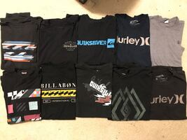 Assorted, size L surf/skate t-shirts