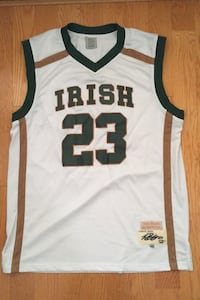 Lebron James #23 St. Mary's Irish Jersey 2002 Vintage Sewn-In Size 52