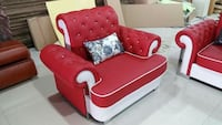 red leather tufted sofa chair Mumbai, 400071