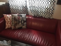 Red sofa  Leather , great condition from bad boy London, N6E 1B3