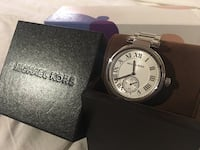 Authentic Michael Kors Silver watch North Vancouver, V7P 3E7