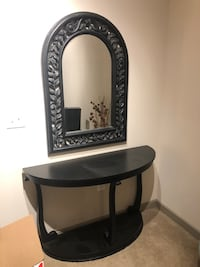 black wooden framed wall mirror Oxon Hill, 20745