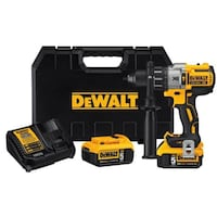 DEWALT DCD996P2 20-Volt MAX XR Lithium-Ion Cordless Premium Brushless Hammer Drill with (2) Batteries 5Ah, Charger and Case Chicago
