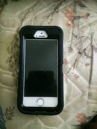 silver iPhone 5s with black case Sylvania, 30467