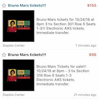 Bruno Mars Tickets 10/24/18 Simi Valley, 93063