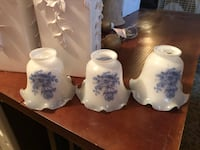 Three white-and-blue floral ceramic lampshades Alexandria, 22306