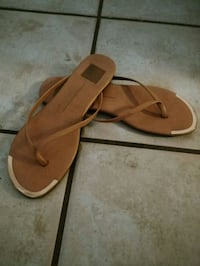pair of brown leather sandals Riverside, 92503