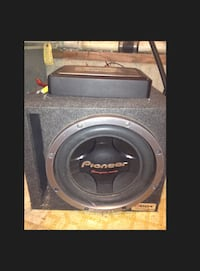 Pioneer w/ported subwoofer box & amp, capacitor Richmond, 23234