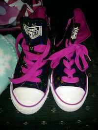 pair of pink Converse All Star high-top sneakers