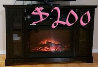 black and red electric fireplace Mississauga, L5K 1T5