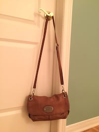 Fossil leather purse long and short strap