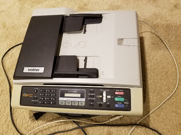 Brother MFC-240C color printer, scanner, fax machine, copy machine