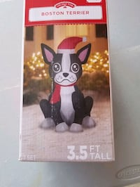 Christmas inflatable Boston terrier Frisco, 75034