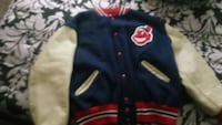 blue and red letterman jacket Niles, 49120