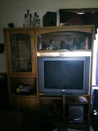 Brown Wooded Entertainment Center  Omaha