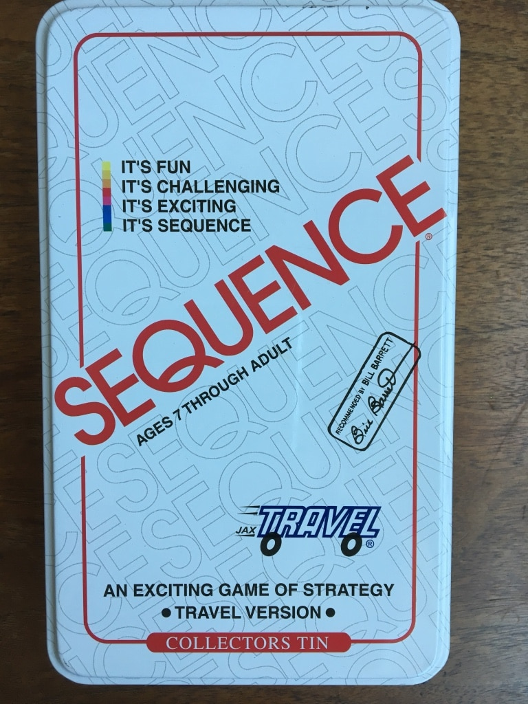 Sequence board game - Travel size and tin