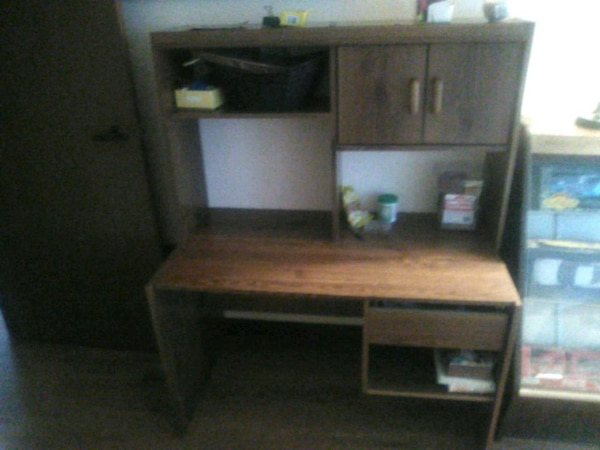 Used brown wooden computer desk with hutch for sale in Stone ... on computer hutches, computer desk with storage, computer desk organizers, computer toy for preschoolers, computer desk with shelf, computer armoire, computer standing desk ikea, southport hutch, computer desk with server, computer desks by sauder, computer desk toys, computer public-domain, computer secretary desk, computer corner desk, computer desks for small spaces, computer desk with drawers, computer desk with bookshelves, computer desks wayfair, computer desk with credenza, computer desk with mirror,