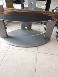 black and gray TV stand Lake Clarke Shores, 33406