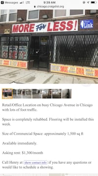 COMMERCIAL For rent Chicago