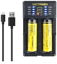 Victagen 18650 Lithium Battery (2 Packs) and Battery Charger brandnew picking up New York, 11214