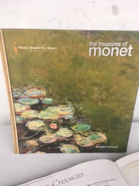 "Nice Gift. The Treasures of Monet Hardcover Art book. H12"" W12""."