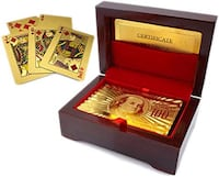 Luxurious 24K Gold Plated Playing Cards with Case Mississauga, L4Z 3B6