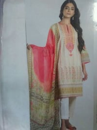 3 pieces embroidered neck with pure shafoon dupata  fast colours  Brampton, L6T 3V4
