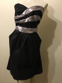 Women's black and gray sequin sweetheart neckline mini dress San Diego, 92154
