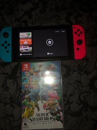 Nintendo switch console with smash bros ultimate  Brampton, L6S 1J1