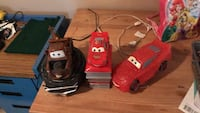 Cars alarm clock, piggy bank and lamp