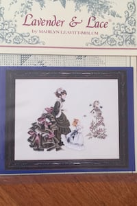 Cross stitch chart from Lavender and Lace Herndon, 20171