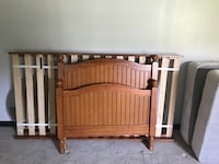 brown wooden headboard and footboard Leesburg, 20176