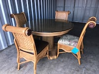 Bamboo Table with Glass top and 4 Chairs Wilmington, 28411