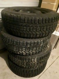 four black vehicle tires with wheels Vaughan, L4H 2W1