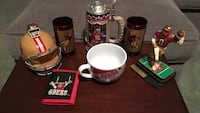Singed steve young; 2 red 49ers cup; 49ers soup bowl; 49ers helmet bank; 49ers mug; 49ers wallet; small 49ers helmet Front Royal, 22630