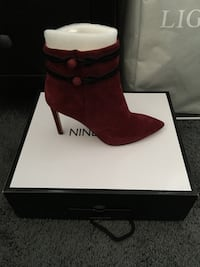 Red suede boots Bowie, 20716