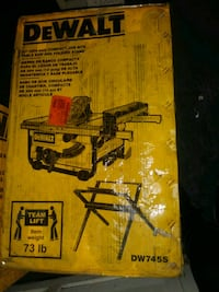 Dewalt table saw 10 inch with stand drill