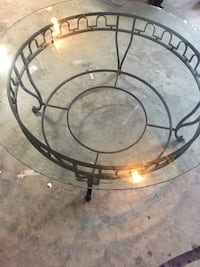 Glass top coffee table High Point