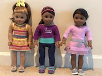 Very good condition American girl dolls.$90 each Sterling, 20165