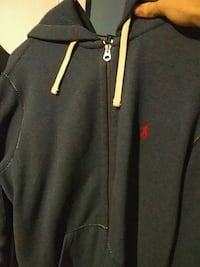 Large polo zip up hoodie