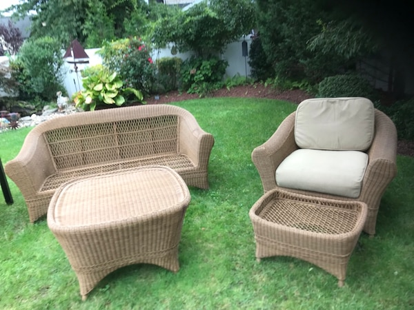 Used Martha Stewart Home Decorators Collection Indoor Outdoor Wicker Furniture Set For Sale In Rockville Centre