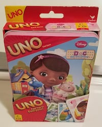 NEW IN PACKAGE! Doc McStuffins UNO in large tin.