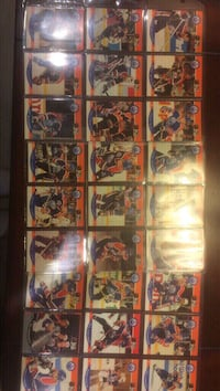 Hockey player trading card collection