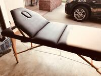 Portable massage table. Barely used. Includes carry case and all accessories pictured   Costa Mesa, 92627