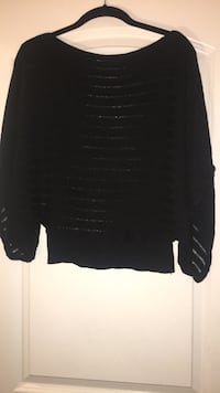 Small see through black striped shirt  Triangle, 22172